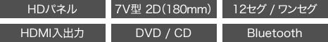 AVIC-RZ910 HD,7V型2D(180mm),12セグ/ワンセグ,HDMI入出力,DVD/CD,Bluetooth