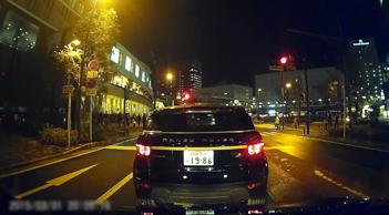 ドライブレコーダーユニット撮影映像イメージ(昼間・夜間)
