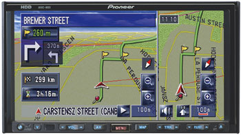 Pioneer Introduces the First In-Dash HDD-based Navigation System In the Australian Consumer Market