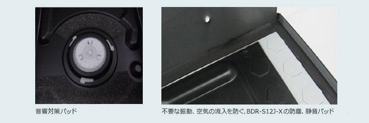 音響対策パッド/不要な振動、空気の流入を防ぐ、BDR-S12J-X防塵.静音パッド