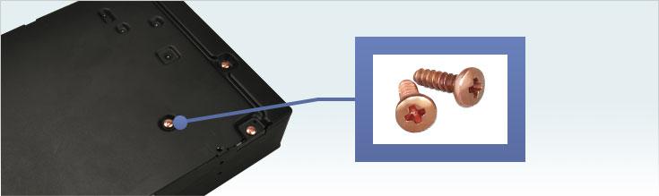 ノイズを低減する銅メッキネジ